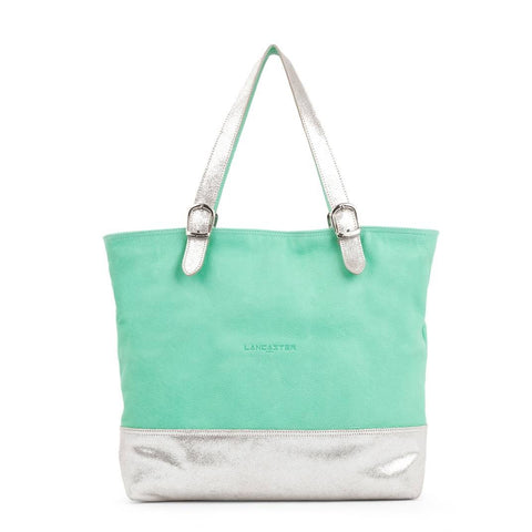 LANCASTER PARIS CABAS SOFT TOTE - MINT