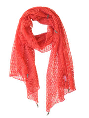 Donni Charm Web Scarf in Coral