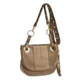 Hammitt Los Angeles Sunday Brunch Crossbody Handbag in Bourbon with Gold Hardware