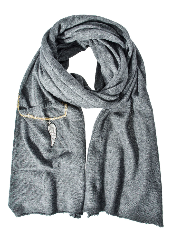 Donni Charm Keepsake Scarf - Charcoal