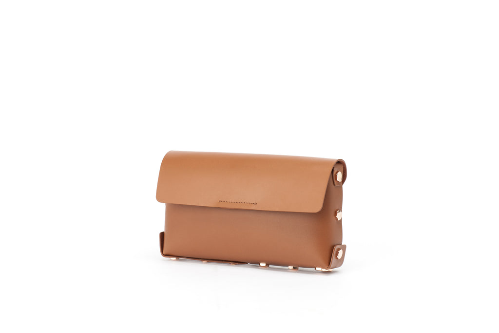 Asmbly Brown Leather Clutch
