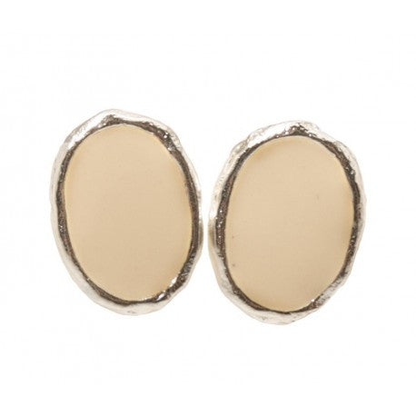 Karine Sultan Stud Earrings in Beige