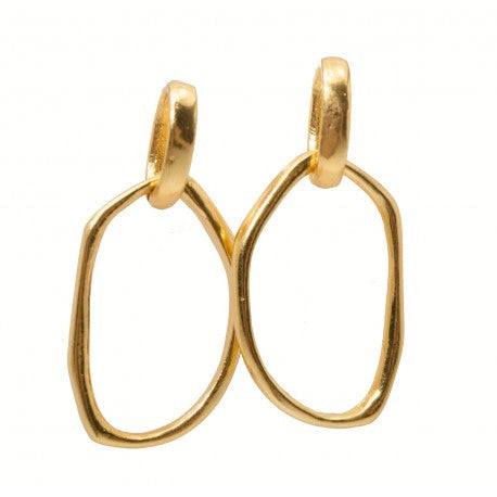 Karine Sultan Matte Earrings