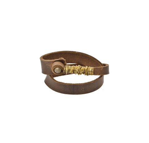 Orox Leather Co. Double Ring Wristband