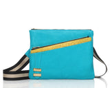 Alexandra Satine bold color Italian Leather Crossbody web strap