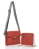 3-in-1 luxury soft leather Alexandra Satine designer crossbody