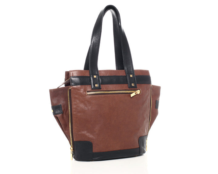 Alexandra Satine, Bleecker, Brown, Chocolate, Handbag, Tote