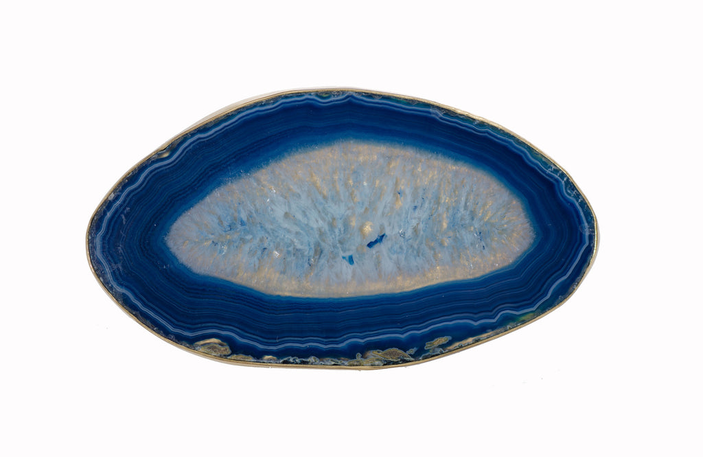 Charles Albert Blue Agate Slice Ring