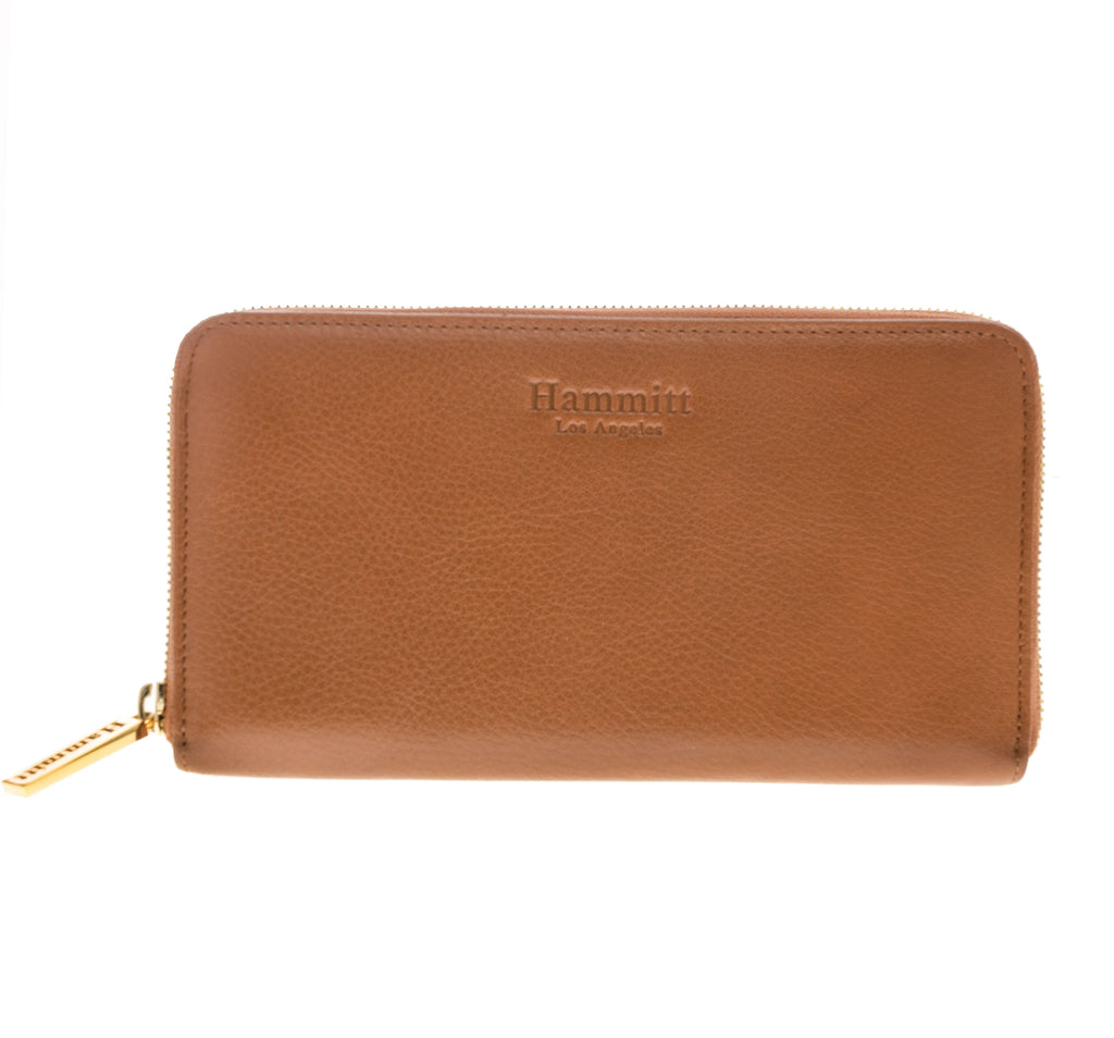 Hammitt LA Classic Simple Cognac leather Clutch or wallet