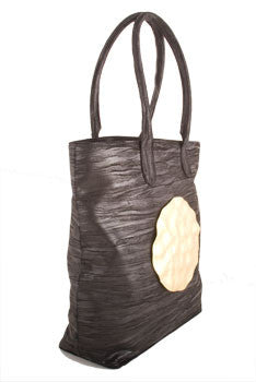 Dareen Hakim Tote - Le Riviera in Black with Metal Accent