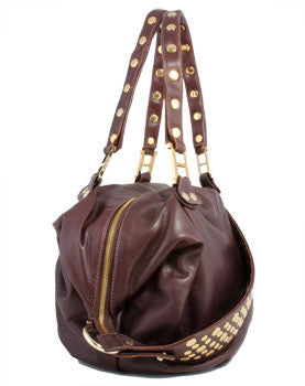 Hammitt Los Angeles Hollywood Dember Brandy Crossbody Handbag with Gold Hardware