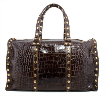 Hammitt Los Angeles Limited Edition LAX Weekender Java Croco Handbag