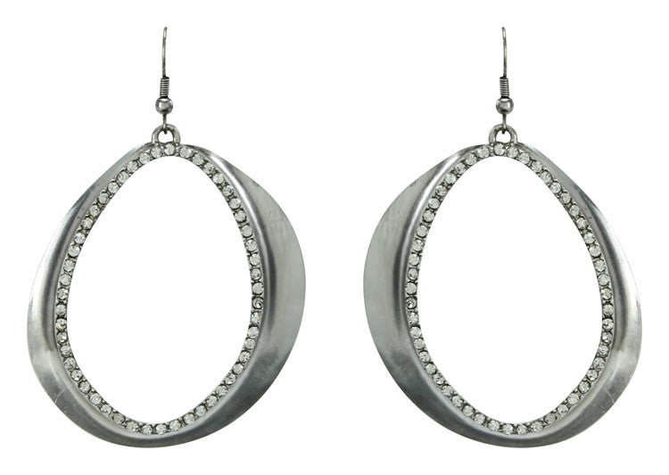 Karine Sultan Jena Pave Statement Large Drop Earrings