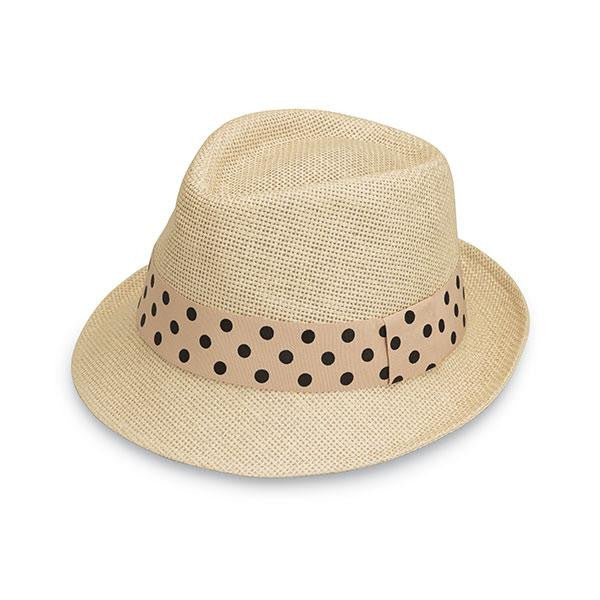 Wallaroo Hat Company Gigi Hat in Natural/Polka Dot