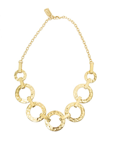 Karine Sultan Louna Collar Charm Necklace in Silver