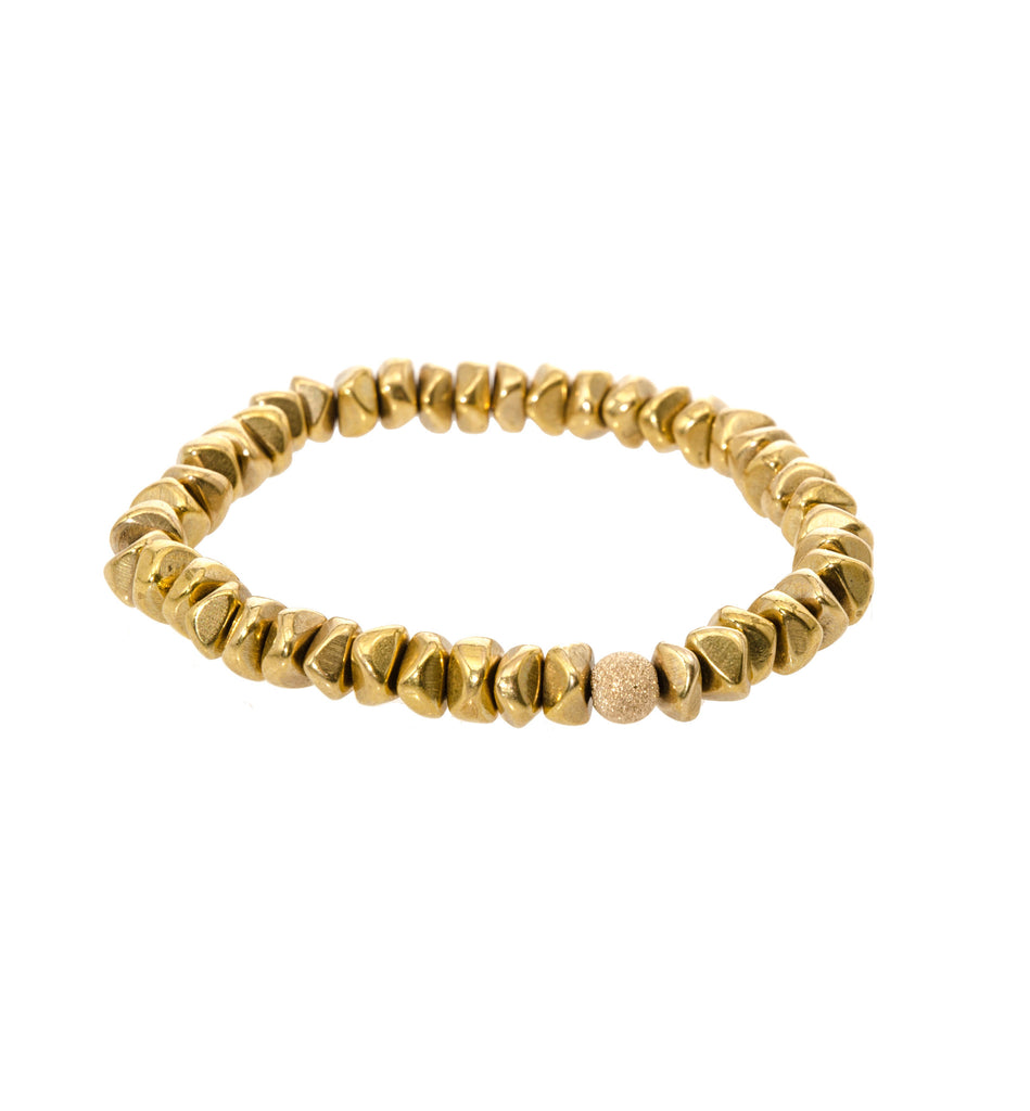 Sisco Berluti Nugget Beaded Bracelet with Gold Stardust Accent
