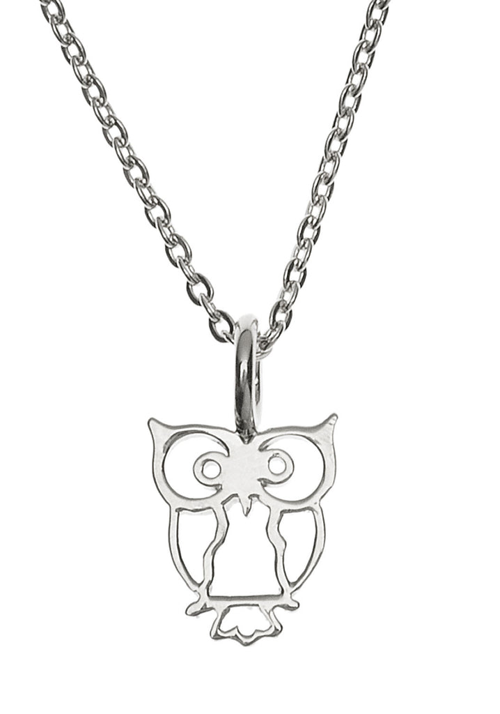 Samantha Faye Small Owl Pendant Necklace