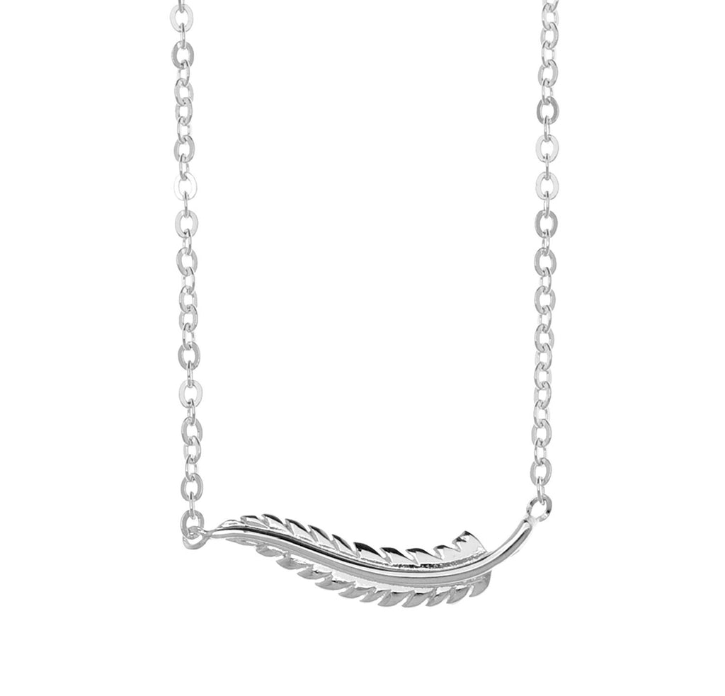 Samantha Faye Small Feather Pendant Necklace