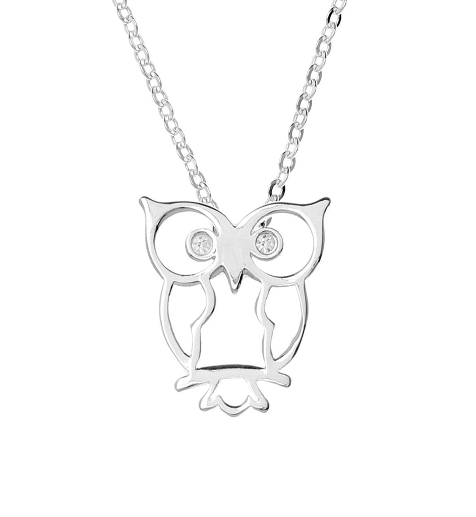 Samantha Faye Small Owl Pendant Necklace with Crystals