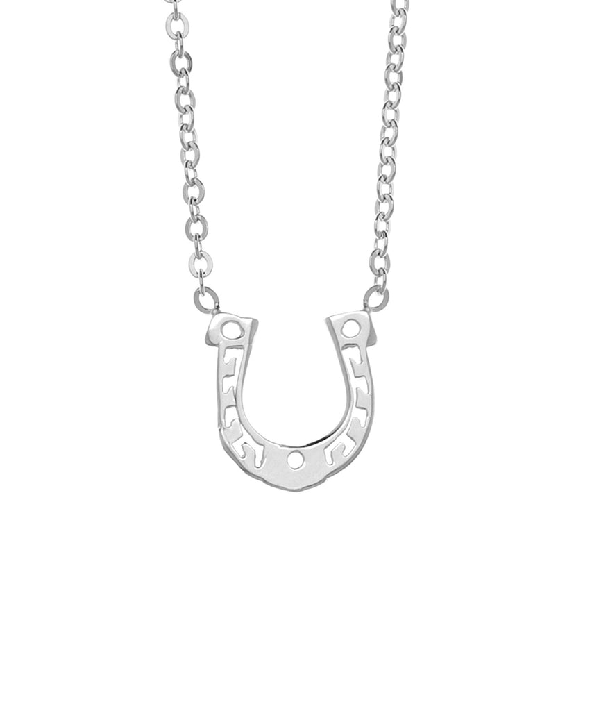 Samantha Faye Small Horseshoe Pendant Necklace