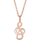 Samantha Faye Small Treble Symbol Necklace