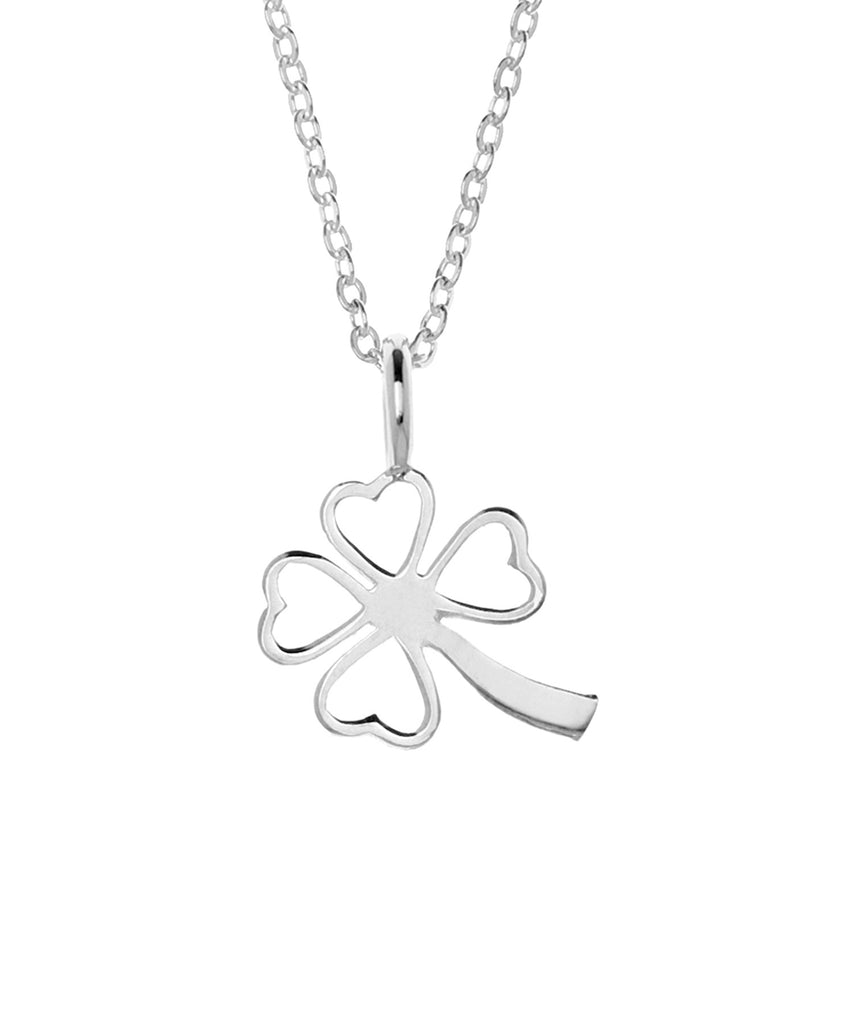 Samantha Faye Small Clover Pendant Necklace