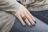 Jo Handbags Copper Wire Ring