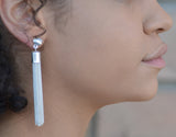 Karine Sultan Caroline Tassel Drop Earrings - Silver