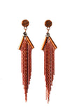 Karine Sultan Oxidized Copper Pendant Earrings
