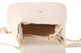 Creamy Ivory Suede Lining inside Bone Leather Kyla Joy Luxury Backpack