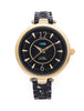 La Mer Collections Black/Gold Black Dial Sicily Watch