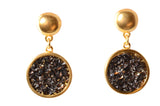 Karine Sultan Louna Drop Stud Earrings in Gold
