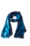Lua Hand Dyed Silk Wrap in Teal