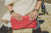 d'andrea handbags Mr. Precarious Clutch