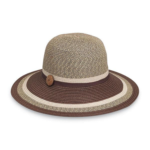 Wallaroo Hat Company Nola Brim Hat in Brown Combo