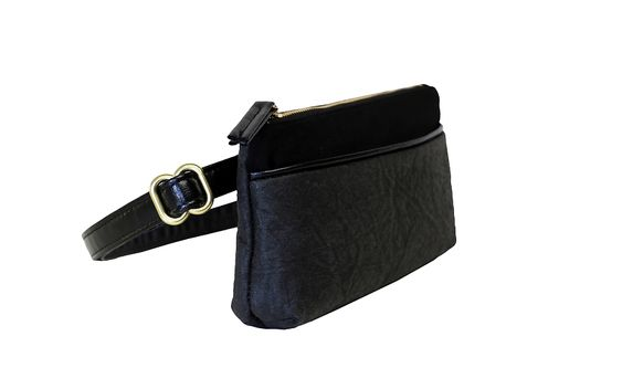 HFS Pocket Bum Bag - Black Piñatex