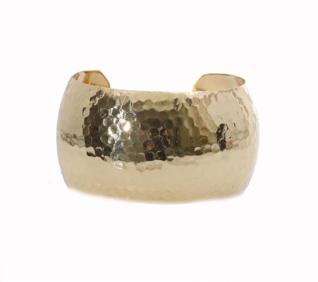 Charles Albert Hammered Bubble Cuff