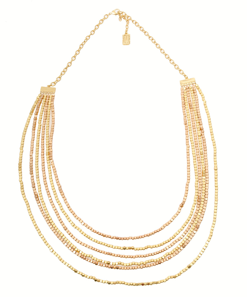 Karine Sultan Rose Gold Multistrand Necklace