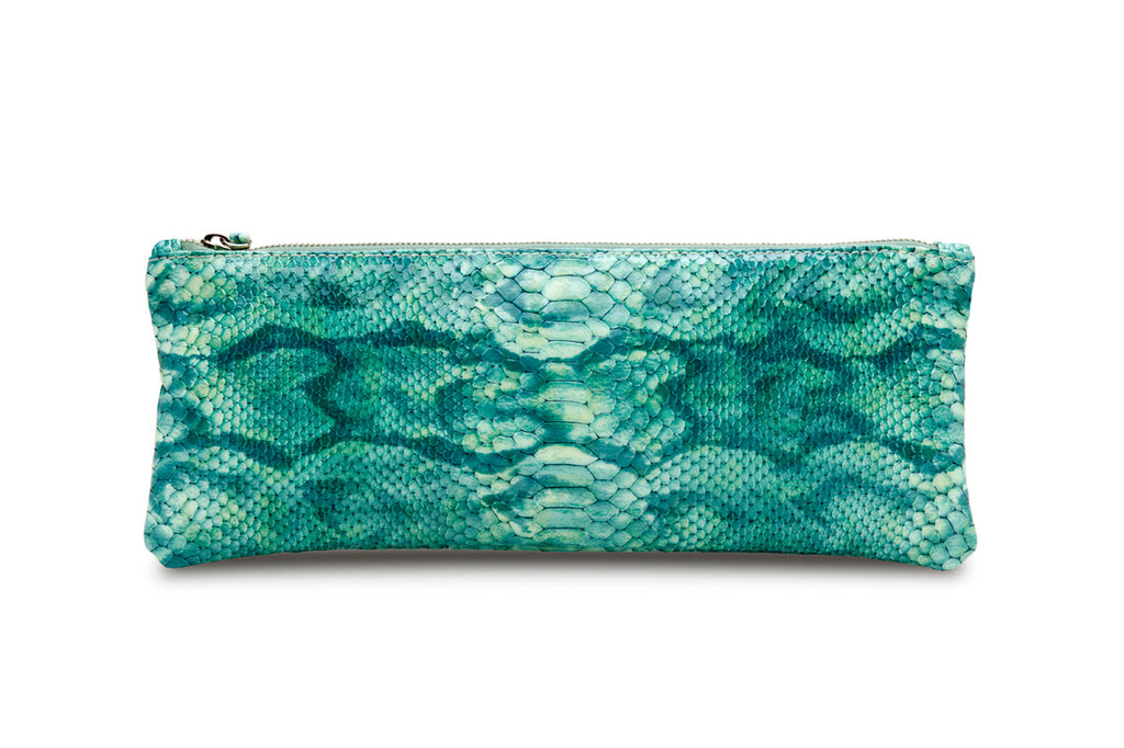 eco-friendly chrome-free, hand rubbed finish on the feNa Abundance clutch