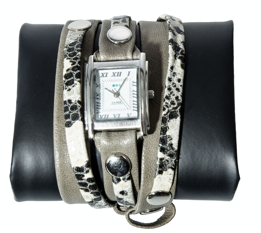 La Mer Collections Cement Snake Watch