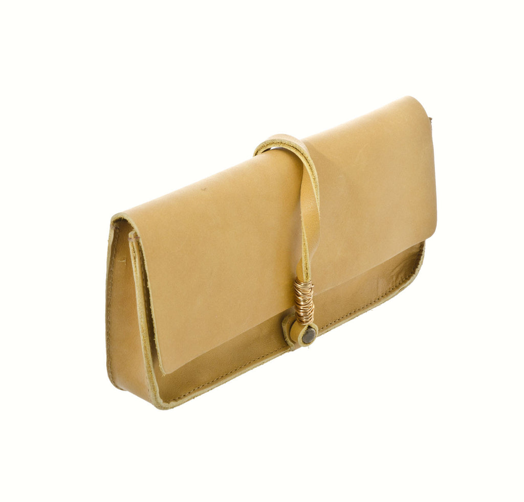 Jo Handbags Dakota Clutch in Mustard