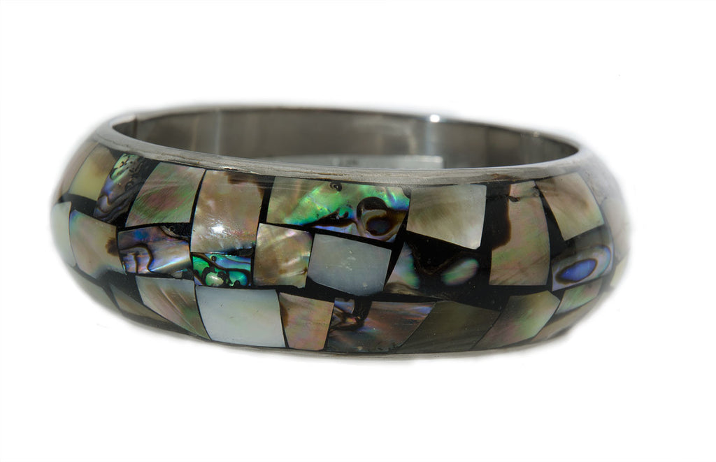 Abalony Mix Bangle Bracelet