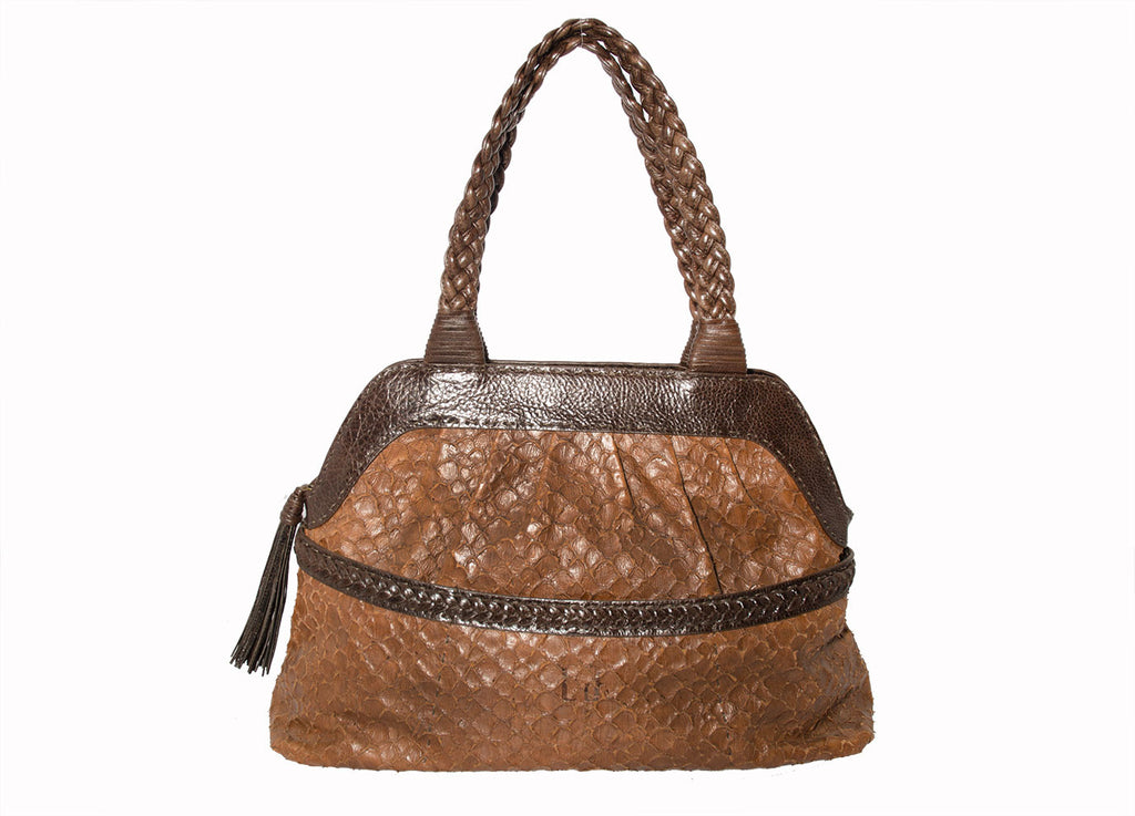Catherine Adair Brown Snake Sequoia Handbag