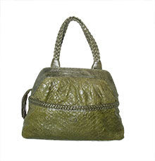 Catherine Adair Green Snake Sequoia Handbag