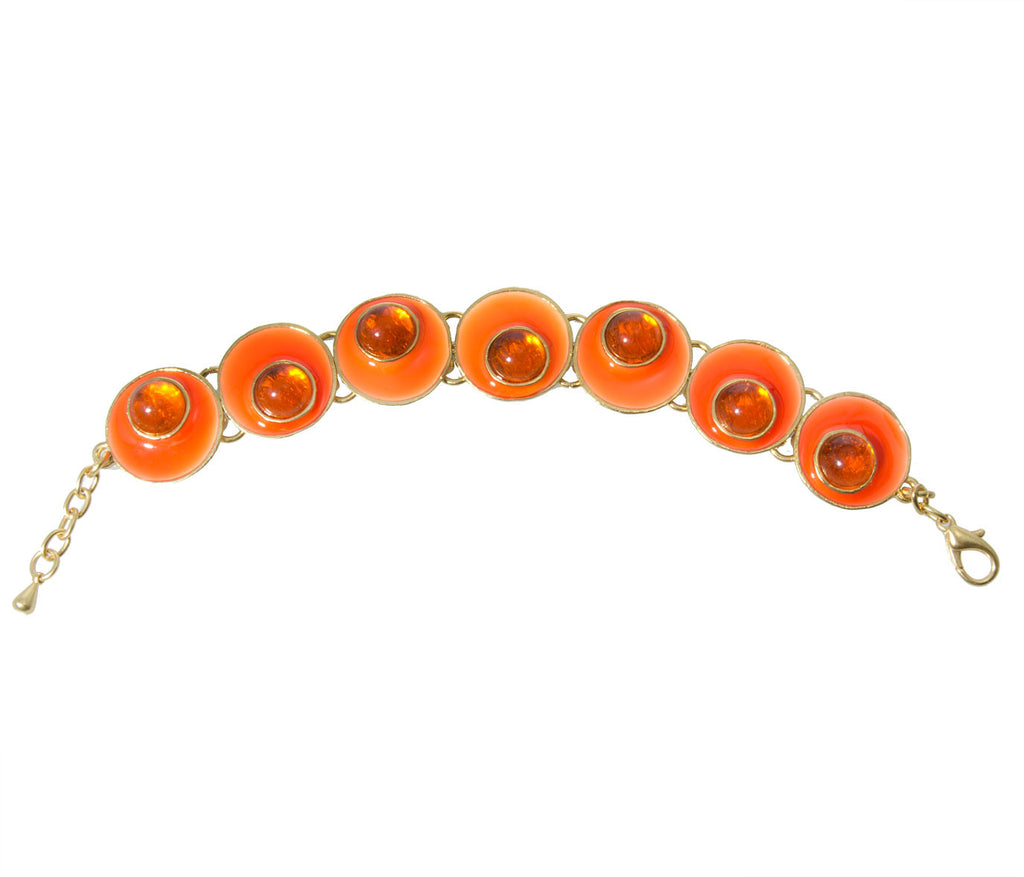 Karine Sultan Orange Bracelet