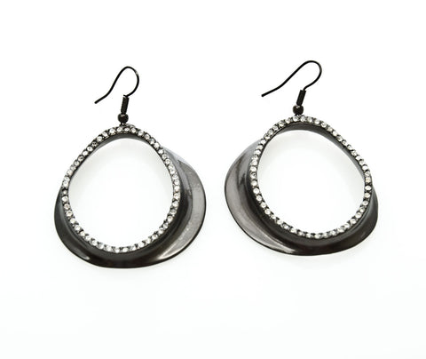 Karine Sultan Minimalist Long Bar Charm Earrings - Silver