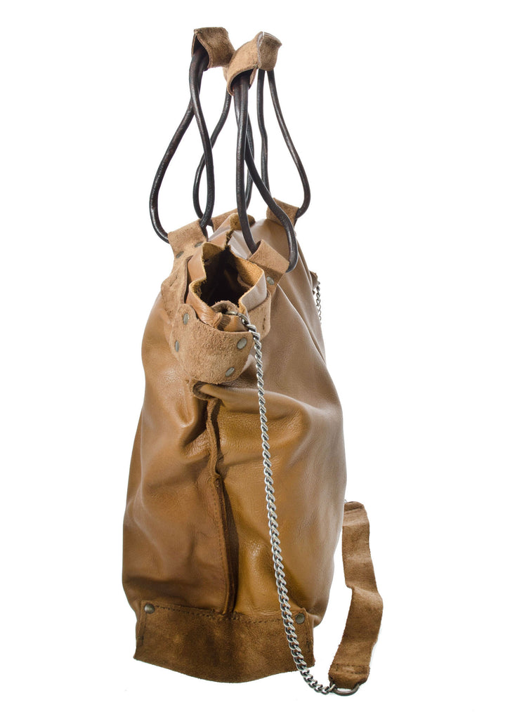 Jo Handbags Hobo Handbag in Camel Monte with chain should strap