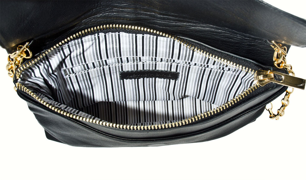 Alexandra Satine, Jay St., Handbag, Crossbody, Handbag Tailor, womens, Black, Italian Leather