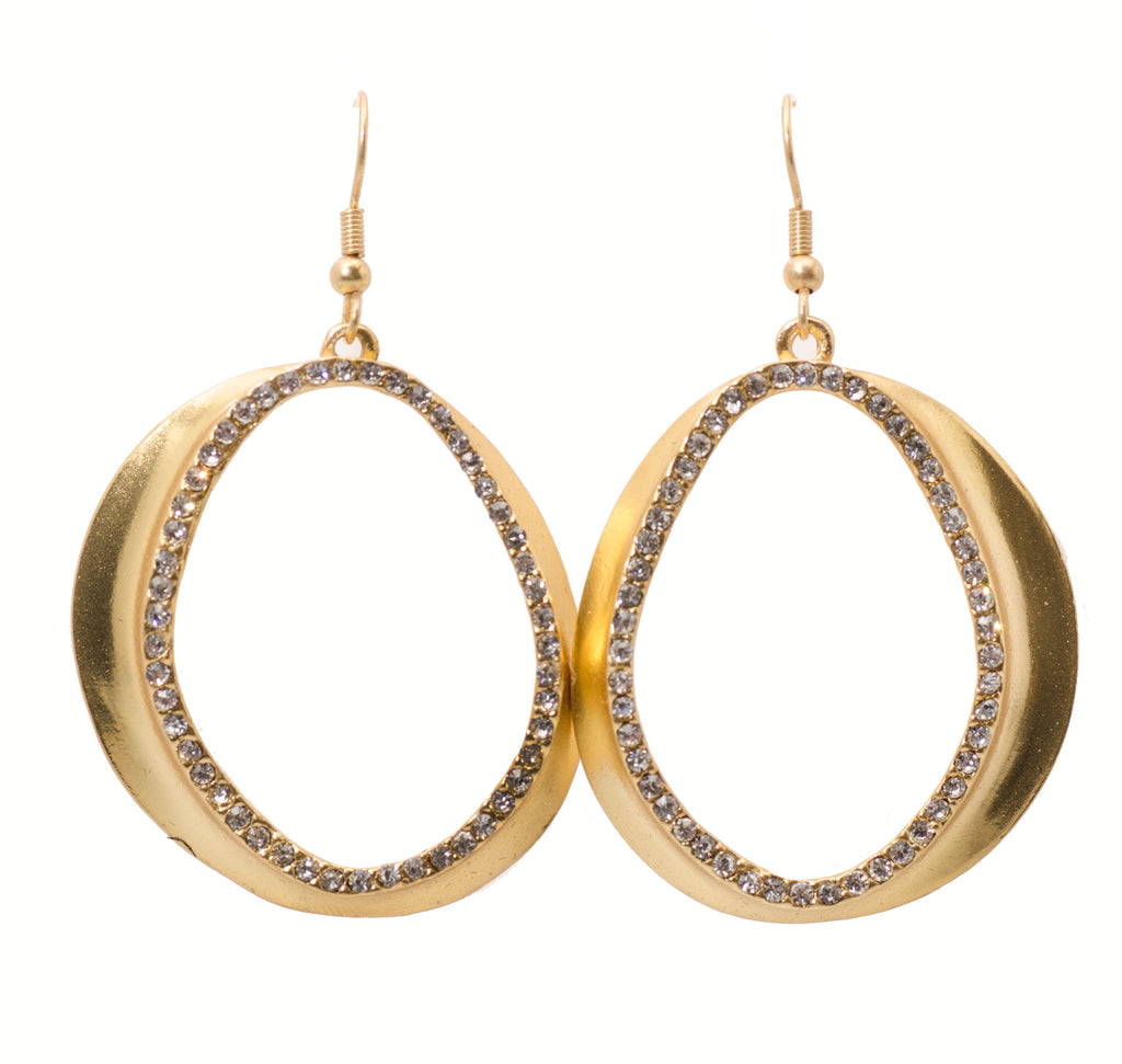 Karine Sultan Jena Pave Statement Large Drop Earring
