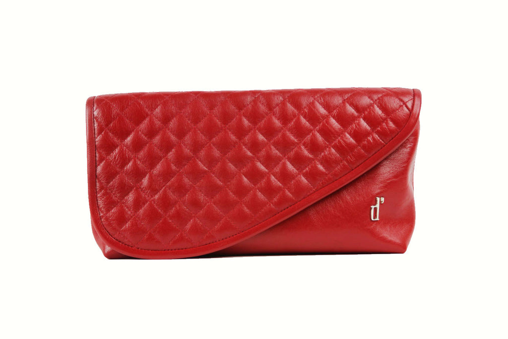 Red Leather Clutch - d'andrea handbags Mr. Precarious Clutch